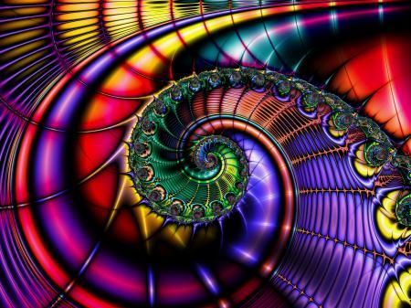 Обои спираль, цвет, объем, узор