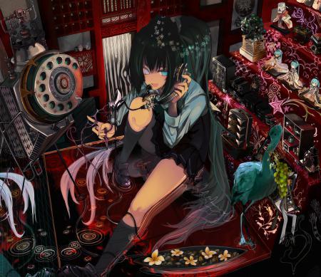 Рисунки арт, девушка, vocaloid, hatsune miku