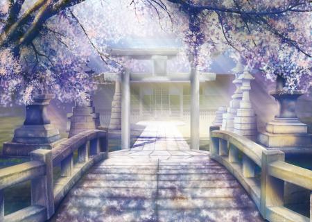 Заставки арт, geshi, пейзаж, храм