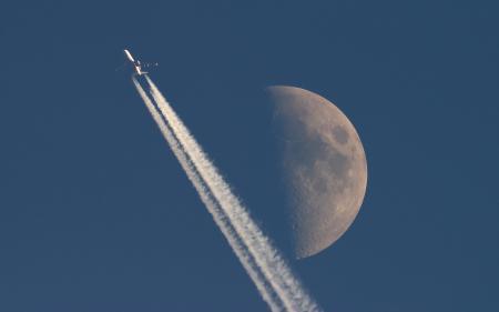 Фото Aircraft, Moon, Jet