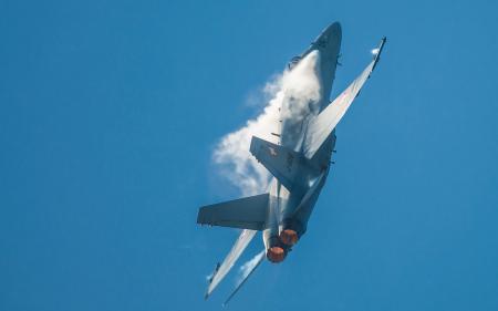 Картинки F-18 Hornet, самолёт, оружие, небо