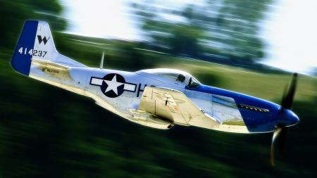 Обои P-51, Mustang, North American, самолет