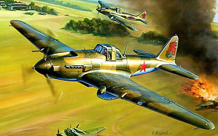 Заставки Ил-2, советский, штурмовик, самолет