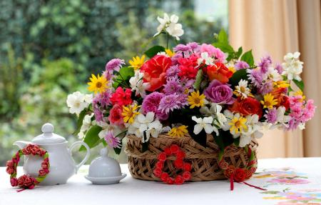 Фото букет, цветы, разнообразие, композиция