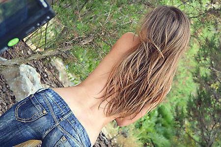 Заставки попа, джинсы, спина, волосы