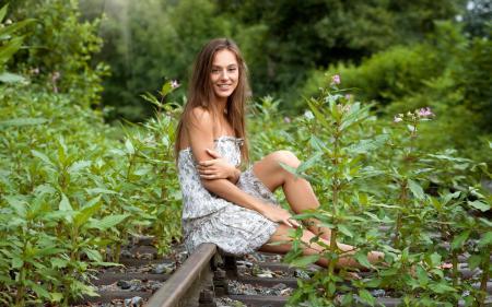 фото девушек любительские на природе