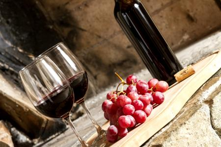 Картинки вино, красное, виноград, ягоды