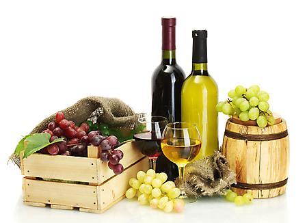 Заставки бутылка вина, красное, белое, ящик винограда