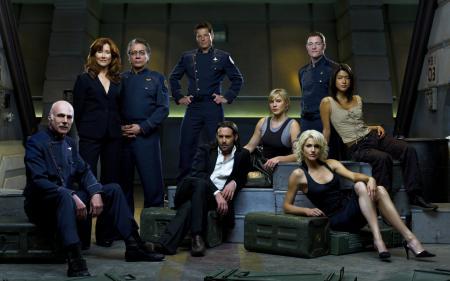 Картинки сериал, Звездный Крейсер Галактика, команда галактики, военные