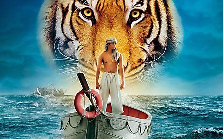 Обои фильм жизнь пи парень в лодке