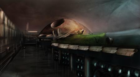 Заставки арт, фантастика, обсерватория, ночь