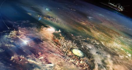 Картинки планета, города, высота, корабли