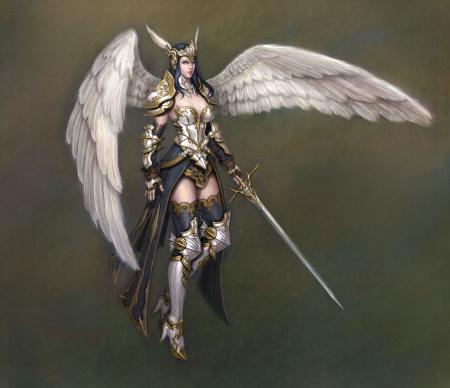 Обои арт, девушка, крылья, ангел