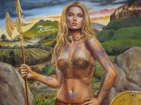 Обои фэнтази, девушка, воин, амазонка