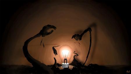 Заставки фантастика, фантазия, рисунок, арт. лампочка