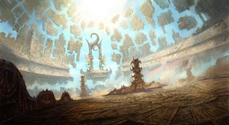 Обои арт, сооружение, гигантское, части