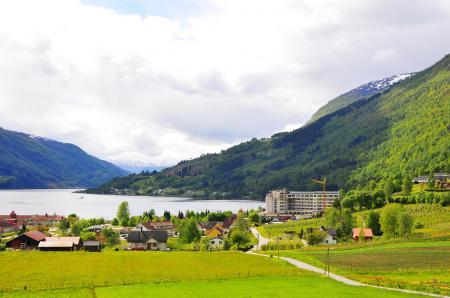 Картинки Страна, Норвегия, Город, Согн-ог-Фьюране Loen