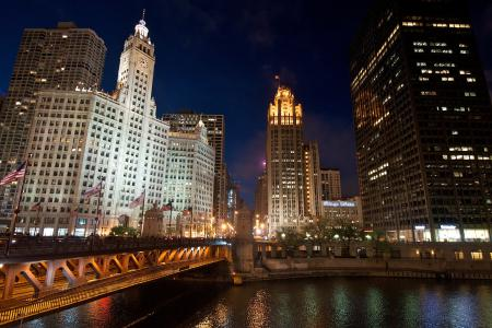 Картинки Chicago, город, огни, ночь