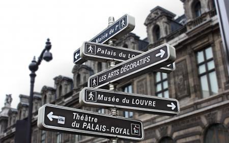 Обои Франция, Париж, Лувр, указатель