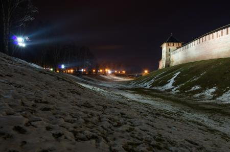 Заставки Россия, Новгород, крепость, зима