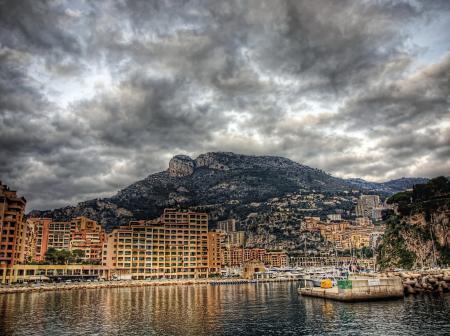 Фотографии Монако, побережье, небо, дома