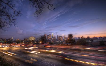 Фото Downtown LA, Los Angeles, California, lights
