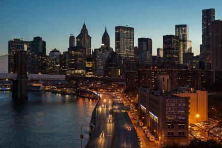 Фотографии Manhattan, New - York, небоскрёбы, дорога