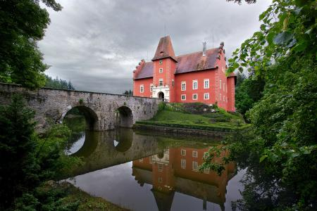 Заставки Замок, Czech Republic, Castle Chervena Lhota, мост