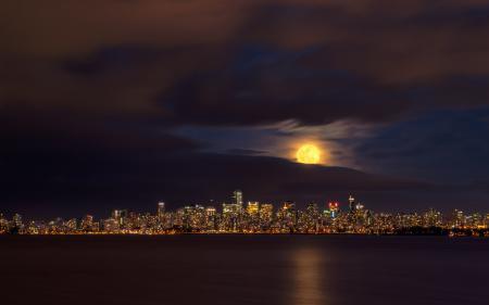 Фото Downtown, Vancouver, ночь, город