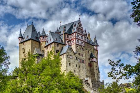 Заставки замок, Германия, Eltz, город