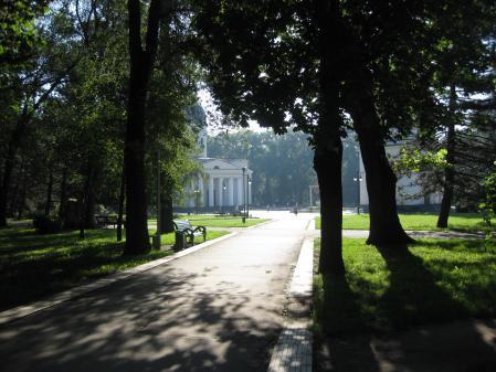 Заставки парк, собор, лето, деревья