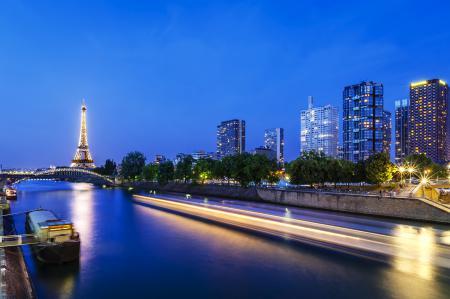 Фото Paris, France, Pont de Grenelle, La tour Eiffel