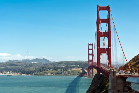 Фотографии Сан-Франциско, San Francisco, золотые, ворота