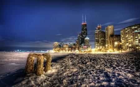 Фотографии chicago, город, ночь