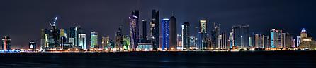 Обои Doha, qatar, ночь, огни