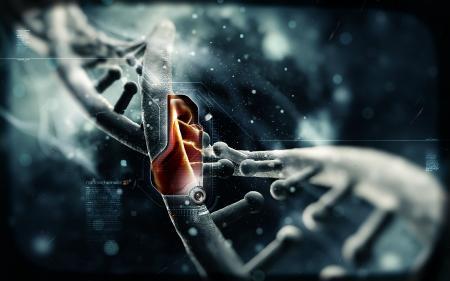 Картинки нанотехнологии, спираль, оранжевый код, днк