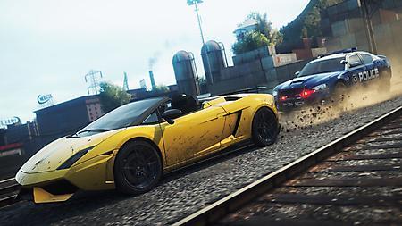 Картинки компьютерная игра, need for speed, полицейская машина, мигалки на крыше