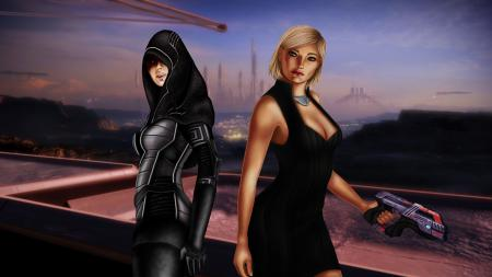 Картинки fan art, Mass Effect 2, Shepard, Kasumi