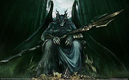 Рисунки страшный дьявол, огромный демон, большие крылья, King Arthur 2 The Role - Playing Wargame