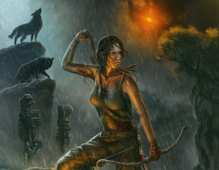 Обои Lara Croft, Tomb Raider, арт, девушка