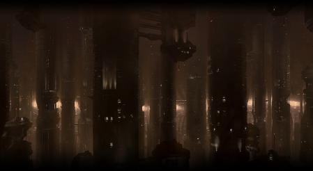 Рисунки Mass Effect 2, Omega, станция, огни