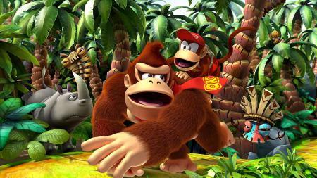 Картинки Donkey Kong Country Returns, игра, маска, обезьяна