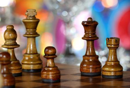 Обои шахматы, фигуры, доска, макро