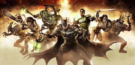 Заставки Infinite Crisis, Batman, Wonder Woman, Green Lantern