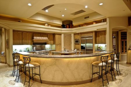 Обои kitchen, design, interior, стулья