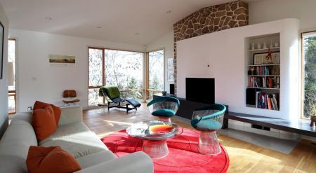 Обои интерьер, стиль, дизайн, жилая комната