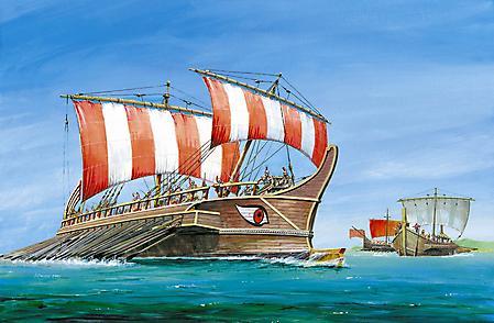 Обои греческая триера, греко-персидские войны, море, огромный глаз