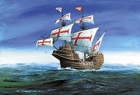 Фото парусный корабль, Сан Габриэль 16 века, конкистадоры, Новый Свет