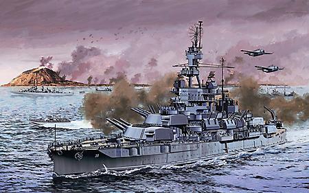 Картинки битва на море, линкор  WW2, пенсильвания, крейсер