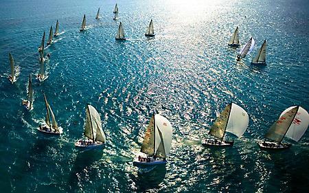 Фотографии яхты, парусники, плавание на море, путешествие
